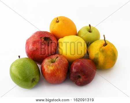 Newest and most beautiful winter fruit, apple, quince, orange, carrot, pomegranate, pictures