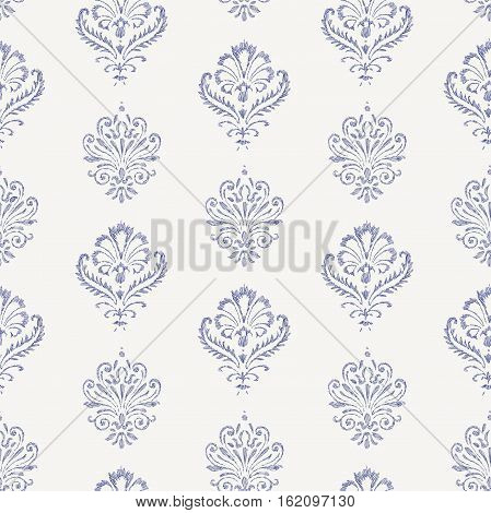 Vector pattern of the antique drawn elements.