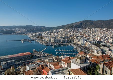 Save Download Preview Panorama form fortress to Kavala East Macedonia and Thrace Greece
