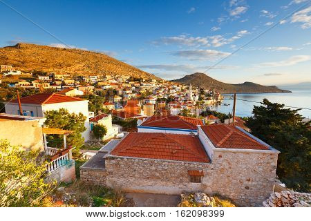Halki island in Dodecanese archipelago in Greece.