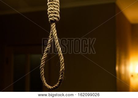 Suicide rope loop.