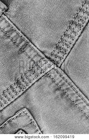 canvas pattern texture and seam of vintage pants
