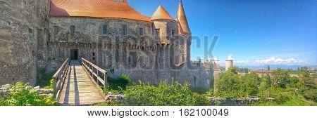 Dracula Castle Huniazi Castle in Hunedoara Romania