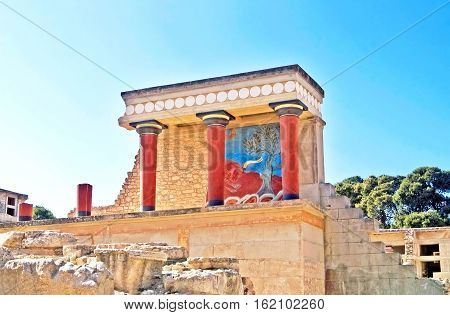 Ruins of the Knossos palace in Greece