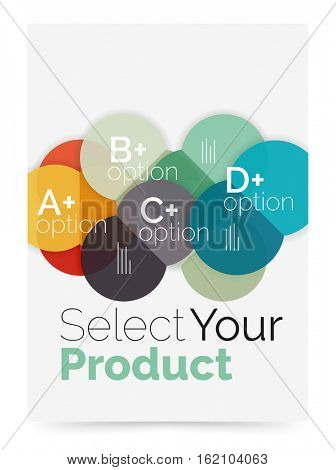 Business cover brochure design with select option diagram. Vector abstract background