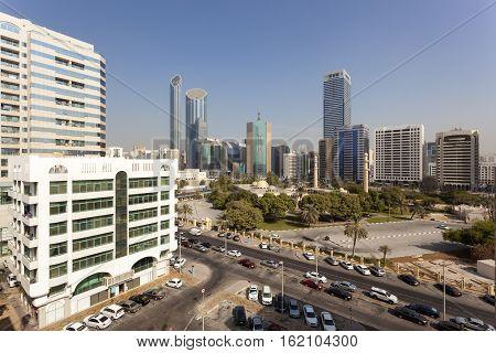 View of Abu Dhabi downtown United Arab Emirates