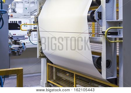 manifacturing industry: machineries for realization rubber tapes