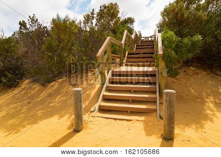 Stair on Pinnacles at Namburg National Park Cervantes Western Australia