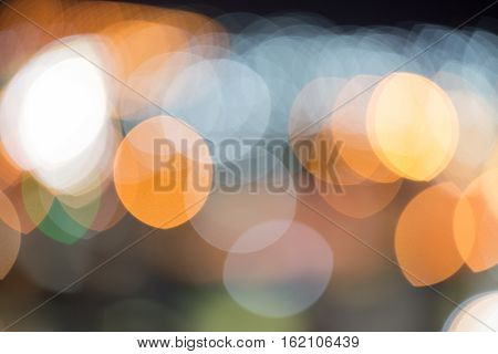 colorful boke from aerial view of city light
