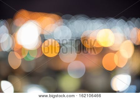 abstract colorful boke from aerial view of city light