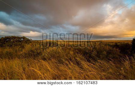 Outback Western pearth ,Australia .sunset scene .