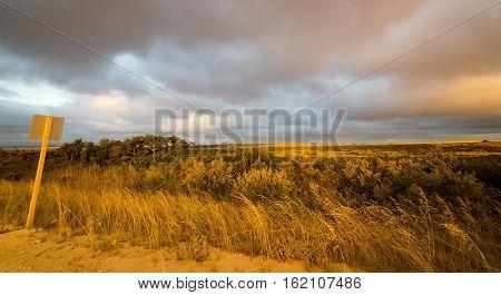 Outback Western Perth ,Australia. sunset scene .