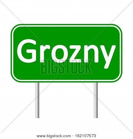 Grozny road sign isolated on white background.