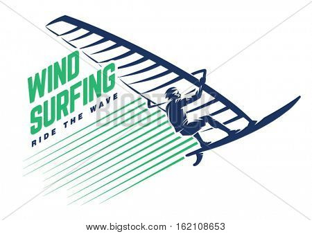 Windsurfing. Sport emblem