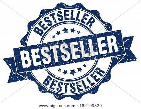 bestseller. stamp. sign. seal. round. retro. ribbon