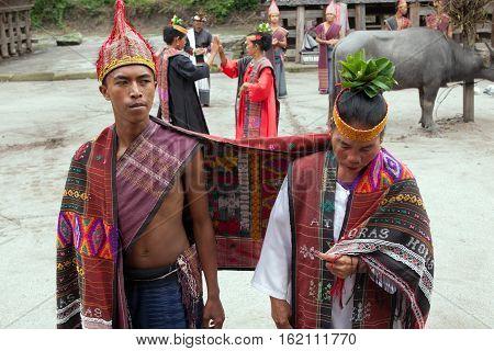 SUMATRA TOBA INDONESIA - AUGUST 22,2012: National Batak dance