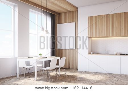 Side View Of Kitchen Interior, Wood