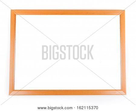 Blank dry erase board isolated on white