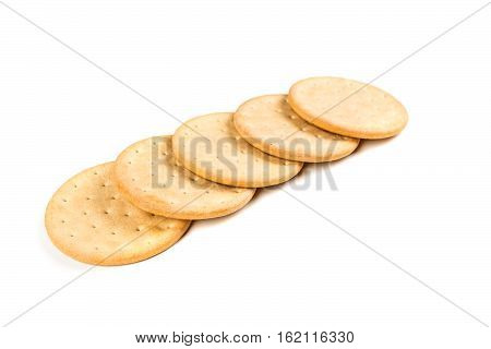 Pilot Bread Biscuits Isolated On A White Background
