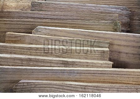 Close Up of Pieces of Old Wood Planks