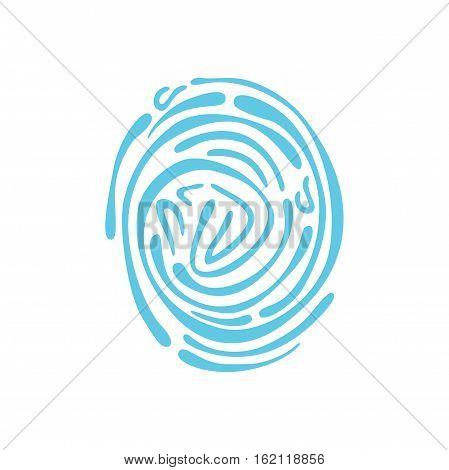 Vector icon. Fingerprint. Isolated illustration jpg eps