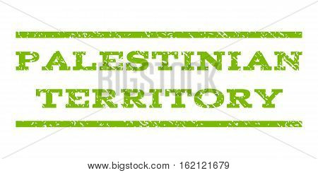 Palestinian Territory watermark stamp. Text caption between horizontal parallel lines with grunge design style. Rubber seal stamp with dirty texture.