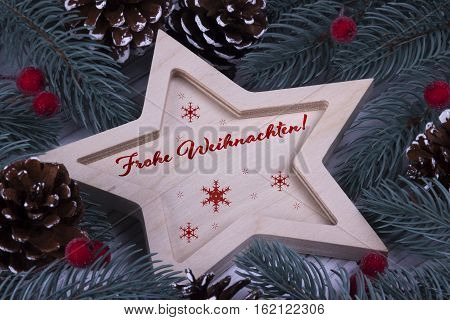 Christmas Greeting Card Frohe Weihnachten,red