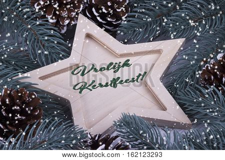 Christmas Greeting Card Vrolijk Kerstfeest