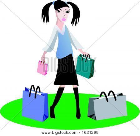 Shopping Young Girl