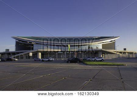 KAZAN, RUSSIA - AUGUST 27, 2016: Sports complex Kazan arena, Kazan, Republic of Tatarstan, Russian Federation