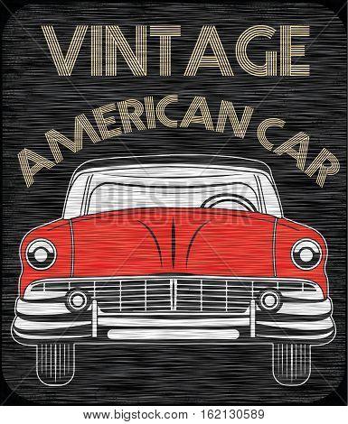 Classic Garage American Car fashion style new art
