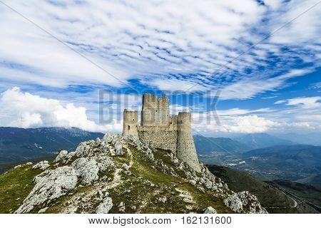 Rocca Calascio, Lady Hawk Fortress, in L'Aquila, Abruzzo, Italy