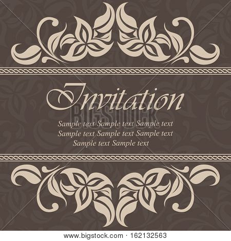 Invitation and save the date card. Also can be used as greeting card birthday card or party invitation.