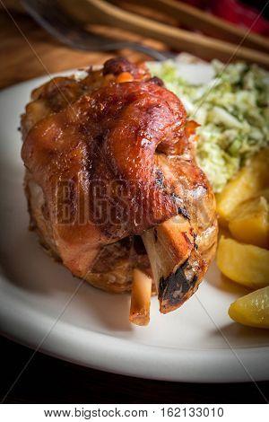 Roast Pork Knuckle.