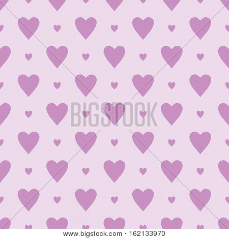 Seamless simple pattern with small hearts. Romantic background. Pink substrate with hearts for registration of holidays weddings Valentine's Day.