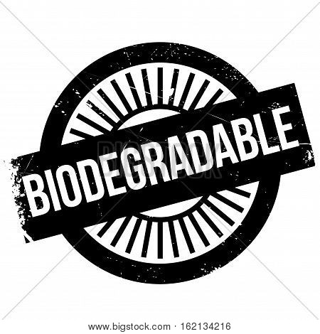 Biodegradable stamp. Grunge design with dust scratches. Effects can be easily removed for a clean, crisp look. Color is easily changed.
