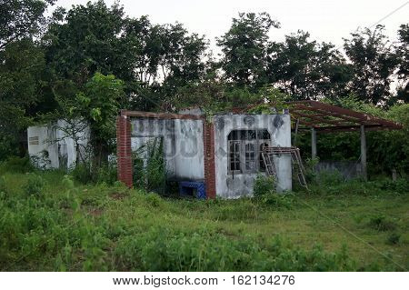 The Abandoned House Inhabited Forest Occurs The Placental Opacity