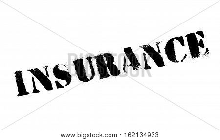 Insurance stamp. Grunge design with dust scratches. Effects can be easily removed for a clean, crisp look. Color is easily changed.