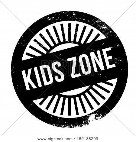 Kids zone stamp. Grunge design with dust scratches. Effects can be easily removed for a clean, crisp look. Color is easily changed.