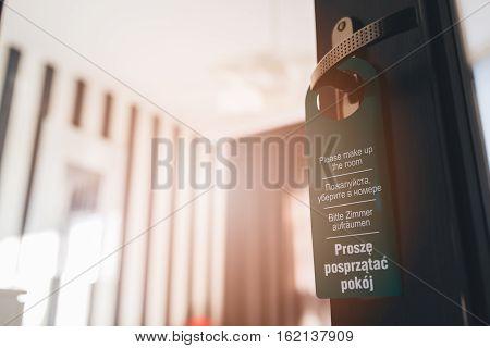 Door Hanger Please Make Up My Room In 4 Languages