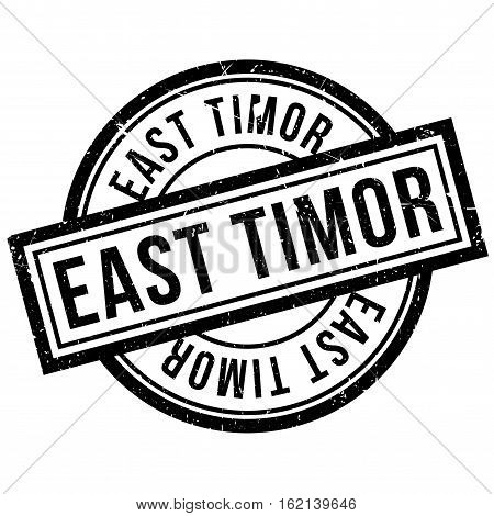 East Timor rubber stamp. Grunge design with dust scratches. Effects can be easily removed for a clean, crisp look. Color is easily changed.