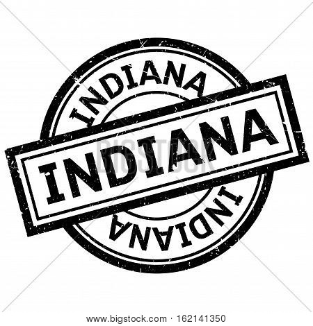 Indiana rubber stamp. Grunge design with dust scratches. Effects can be easily removed for a clean, crisp look. Color is easily changed.