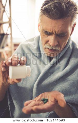 Mature Man Having A Cold