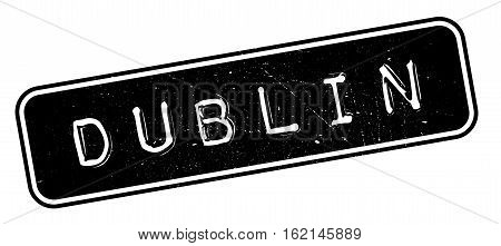 Dublin rubber stamp. Grunge design with dust scratches. Effects can be easily removed for a clean, crisp look. Color is easily changed.