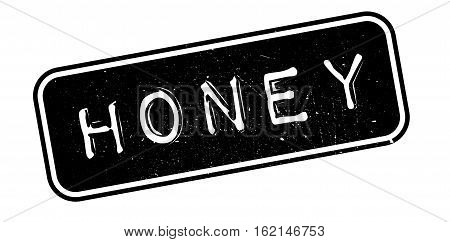 Honey rubber stamp. Grunge design with dust scratches. Effects can be easily removed for a clean, crisp look. Color is easily changed.