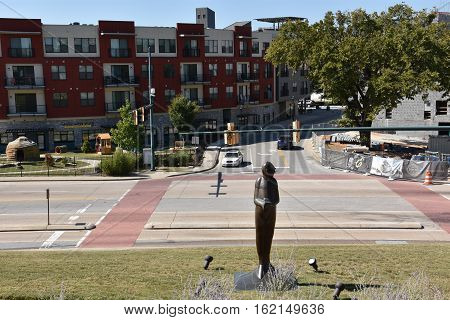 CHATTANOOGA, TN - OCT 5: Bluff View Arts District in Chattanooga, Tennessee, as seen on Oct 5, 2016.  Bluff View Art District is a historic neighborhood filled with restaurants, a coffee house, art gallery, historic Bed & Breakfast, and plenty of gardens,