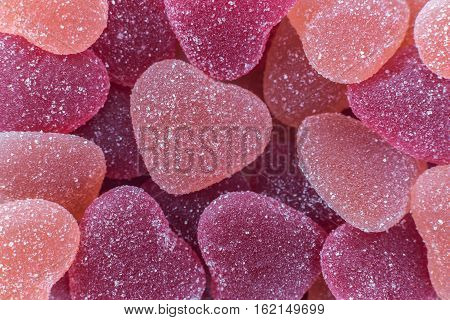a lot of sugar colorful gummy hearts confectionery