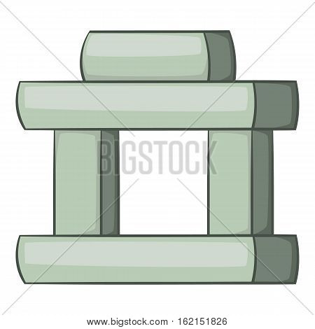 Inukshuk in Canada icon. Cartoon illustration of Inukshuk in Canada vector icon for web