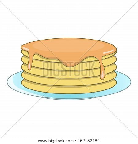 Stack of pancakes icon. Cartoon illustration of stack of pancakes vector icon for web
