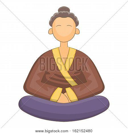 Japnese monk icon. Cartoon illustration of japnese monk vector icon for web